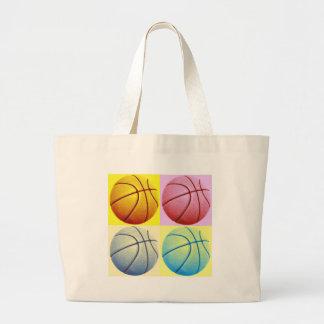 Pop Art Basketball Jumbo Tote Bag