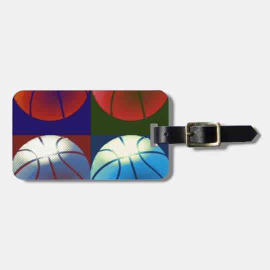 Pop Art Basketball Bag Tag