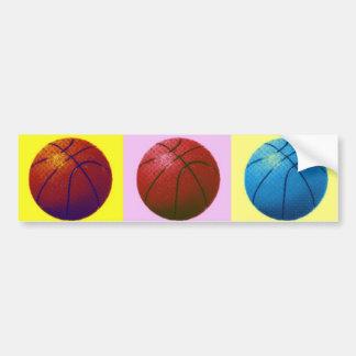 Pop Art Basketball Bumper Sticker