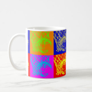 Pop Art Basketball Classic White Coffee Mug
