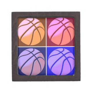 Pop Art Basketball Jewelry Box