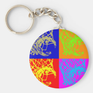 Pop Art Basketball Keychain