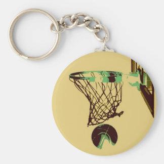 Pop Art Basketball Key Chain