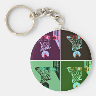Pop Art Basketball Key Chains