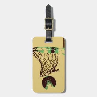 Pop Art Basketball Luggage Tag
