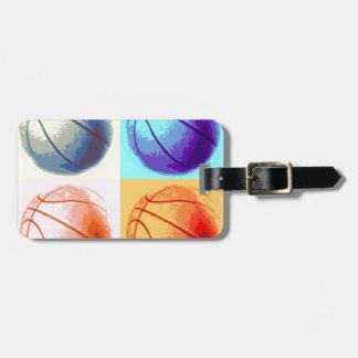 Pop Art Basketball Tag For Luggage