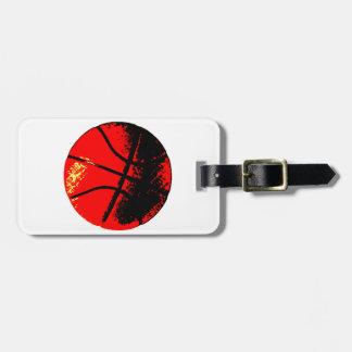 Pop Art Basketball Luggage Tags