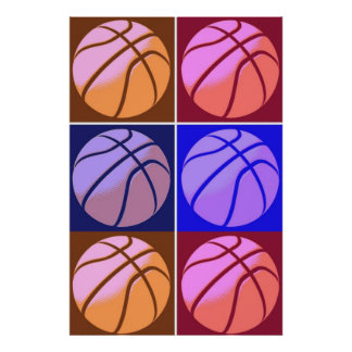 Pop Art Basketball Motivational Poster