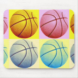 Pop Art Basketball Mouse Pad