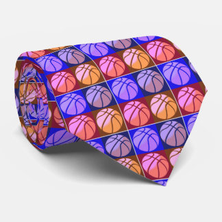 Pop Art Basketball Neck Tie