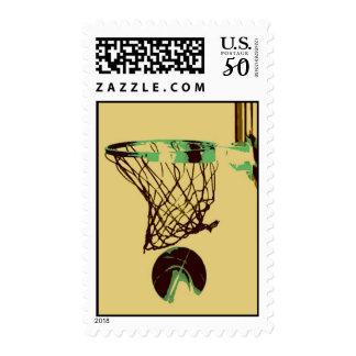 Pop Art Basketball & Net Postage