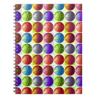 Pop Art Basketball Note Books