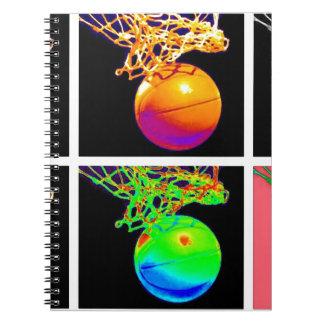 Pop Art Basketball Spiral Notebooks