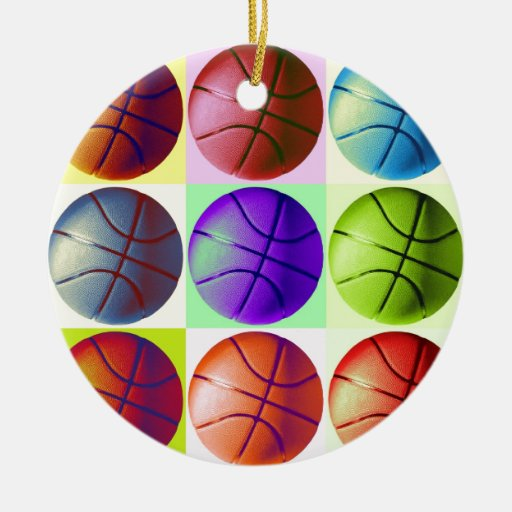 Pop Art Basketball Ornaments