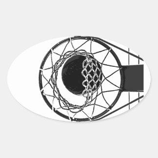 Pop Art Basketball Oval Sticker