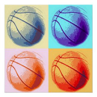 Pop Art Basketball Perfect Poster