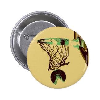 Pop Art Basketball Pinback Button