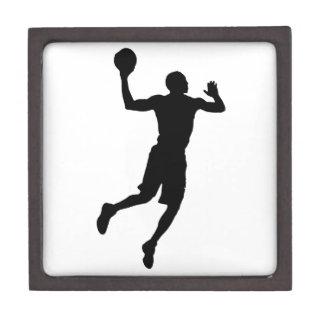 Pop Art Basketball Player Silhouette Jewelry Box