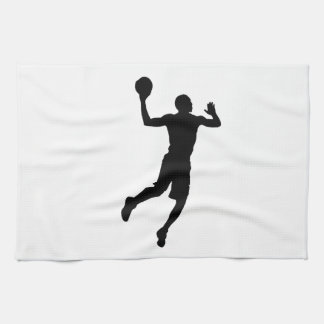 Pop Art Basketball Player Silhouette Kitchen Towels