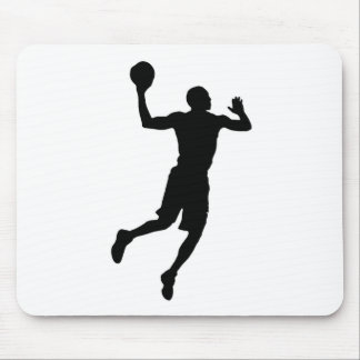 Pop Art Basketball Player Silhouette Mouse Pad