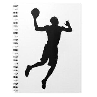 Pop Art Basketball Player Silhouette Notebook