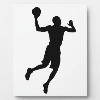 Pop Art Basketball Player Silhouette Plaque