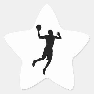 Pop Art Basketball Player Silhouette Star Sticker