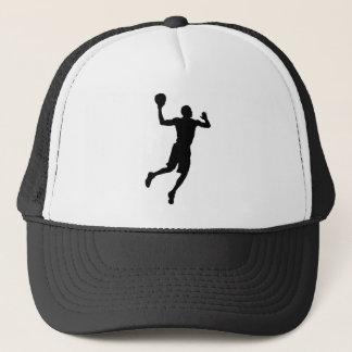 Pop Art Basketball Player Silhouette Trucker Hat