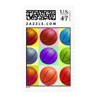 Pop Art Basketball Postage