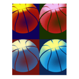 Pop Art Basketball Postcard