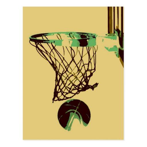 Pop Art Basketball Postcards