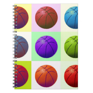 Pop Art Basketball Spiral Notebook