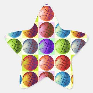 Pop Art Basketball Sticker