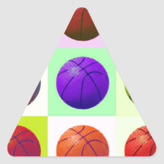 Pop Art Basketball Triangle Sticker