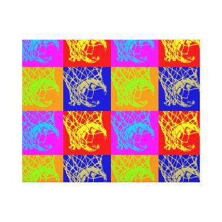 Pop Art Basketball Unique Trendy Wrapped Canvas Canvas Print