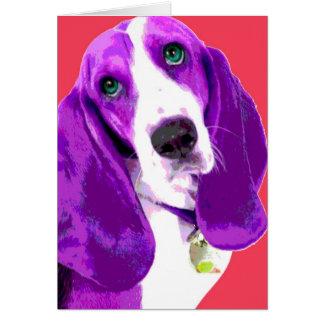 Pop Art Basset Hound Card