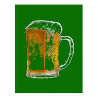 Pop Art Beer Mug Postcard