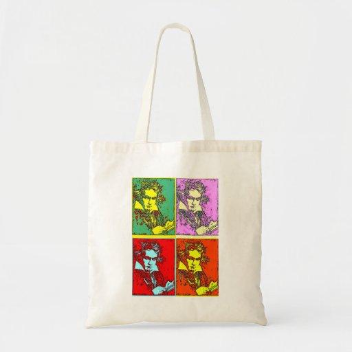 Pop-art Beethoven Budget Tote Bag