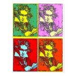 Pop-art Beethoven Postcard