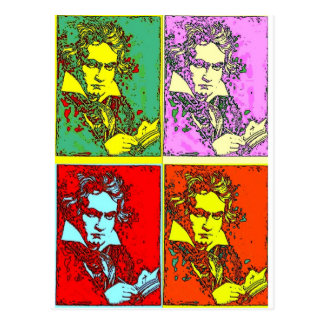 Pop-art Beethoven Post Card
