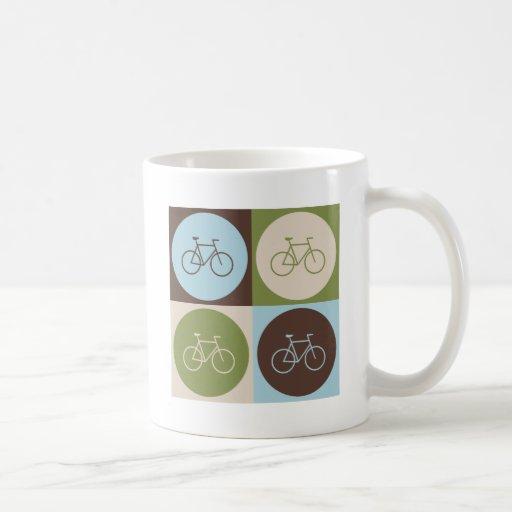 Pop Art Bicycling Classic White Coffee Mug