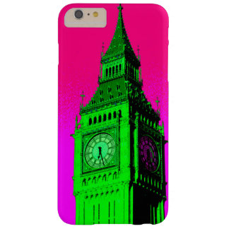 Pop Art Big Ben London Travel Pink Green Barely There iPhone 6 Plus Case