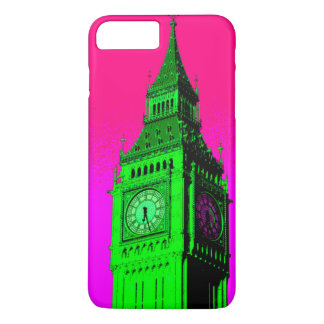 Pop Art Big Ben London Travel Pink Green iPhone 7 Plus Case