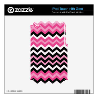 Pop Art Black and Pink Zigzags Skin For iPod Touch 4G