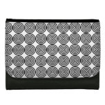 Pop Art Black and White Inner Circle Pattern Wallets