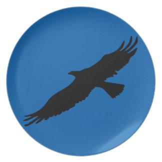Pop Art Black & Blue Eagle Plate