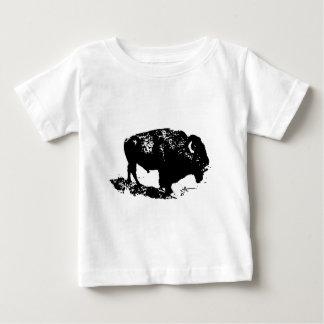 Pop Art Black White Buffalo Bison Silhouette Baby T-Shirt