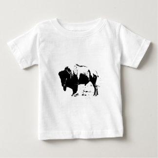 Pop Art Black & White Buffalo Silhouette Baby T-Shirt