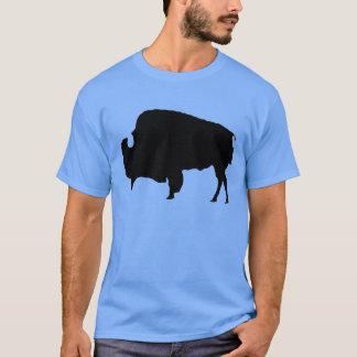 Pop Art Black & White Buffalo Silhouette T-Shirt