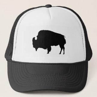 Pop Art Black & White Buffalo Silhouette Trucker Hat